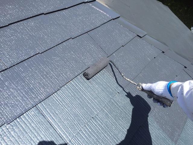 屋根塗装_上塗り